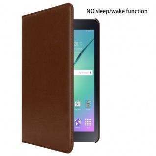 """"""" Cadorabo Tablet Hülle für Samsung Galaxy Tab S2 (8, 0"""" Zoll) SM-T715N / T719N in PILZ BRAUN ? Book Style Schutzhülle OHNE Auto Wake Up mit Standfunktion und Gummiband Verschluss"""" - Vorschau 2"""