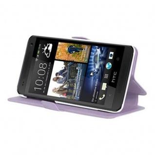 Cadorabo Hülle für HTC ONE MINI M4 (1.Gen.) - Hülle in ICY FLIEDER - Handyhülle mit Standfunktion und Kartenfach im Ultra Slim Design - Case Cover Schutzhülle Etui Tasche Book