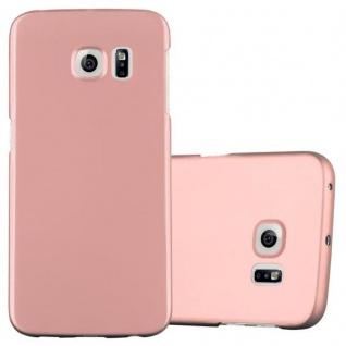 Cadorabo Hülle für Samsung Galaxy S6 EDGE in METALL ROSE GOLD - Hardcase Handyhülle aus Plastik gegen Kratzer und Stöße - Schutzhülle Bumper Ultra Slim Back Case Hard Cover
