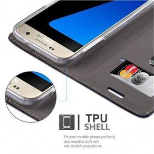 Cadorabo Hülle für Samsung Galaxy S7 in DUNKEL BLAU BRAUN - Handyhülle mit Magnetverschluss, Standfunktion und Kartenfach - Case Cover Schutzhülle Etui Tasche Book Klapp Style - Vorschau 5
