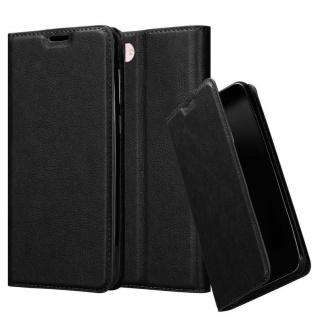 Cadorabo Hülle für Asus ZenFone 4 MAX (5, 2 Zoll) in NACHT SCHWARZ - Handyhülle mit Magnetverschluss, Standfunktion und Kartenfach - Case Cover Schutzhülle Etui Tasche Book Klapp Style