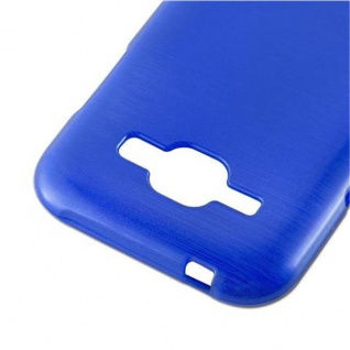 Cadorabo Hülle für Samsung Galaxy J1 2015 in BLAU - Handyhülle aus flexiblem TPU Silikon - Silikonhülle Schutzhülle Ultra Slim Soft Back Cover Case Bumper - Vorschau 4