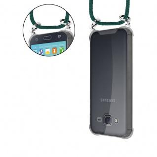 Cadorabo Handy Kette für Samsung Galaxy J5 2015 in ARMEE GRÜN - Silikon Necklace Umhänge Hülle mit Silber Ringen, Kordel Band Schnur und abnehmbarem Etui - Schutzhülle - Vorschau 5