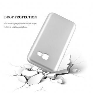 Cadorabo Hülle für Samsung Galaxy A3 2017 in METALLIC SILBER - Handyhülle aus flexiblem TPU Silikon - Silikonhülle Schutzhülle Ultra Slim Soft Back Cover Case Bumper - Vorschau 3