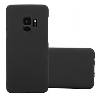 Cadorabo Hülle für Samsung Galaxy S9 in FROSTY SCHWARZ - Hardcase Handyhülle aus Plastik gegen Kratzer und Stöße - Schutzhülle Bumper Ultra Slim Back Case Hard Cover