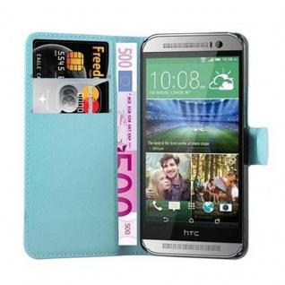 Cadorabo Hülle für HTC ONE M8 MINI in PASTEL BLAU - Handyhülle mit Magnetverschluss, Standfunktion und Kartenfach - Case Cover Schutzhülle Etui Tasche Book Klapp Style - Vorschau 5