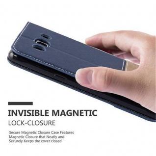 Cadorabo Hülle für Samsung Galaxy J5 2016 in DUNKEL BLAU BRAUN ? Handyhülle mit Magnetverschluss, Standfunktion und Kartenfach ? Case Cover Schutzhülle Etui Tasche Book Klapp Style - Vorschau 4