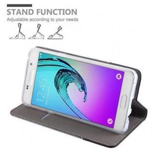 Cadorabo Hülle für Samsung Galaxy A5 2016 in GRAU SCHWARZ - Handyhülle mit Magnetverschluss, Standfunktion und Kartenfach - Case Cover Schutzhülle Etui Tasche Book Klapp Style - Vorschau 5