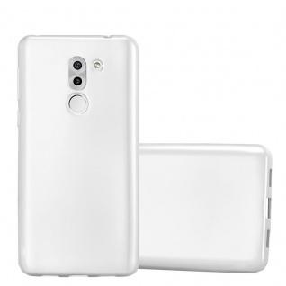 Cadorabo Hülle für Honor 6X in METALLIC SILBER - Handyhülle aus flexiblem TPU Silikon - Silikonhülle Schutzhülle Ultra Slim Soft Back Cover Case Bumper