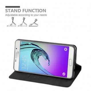 Cadorabo Hülle für Samsung Galaxy A7 2016 in NACHT SCHWARZ - Handyhülle mit Magnetverschluss, Standfunktion und Kartenfach - Case Cover Schutzhülle Etui Tasche Book Klapp Style - Vorschau 3