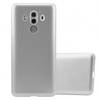 Cadorabo Hülle für Huawei MATE 10 PRO in METALLIC SILBER - Handyhülle aus flexiblem TPU Silikon - Silikonhülle Schutzhülle Ultra Slim Soft Back Cover Case Bumper