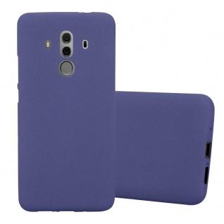 Cadorabo Hülle für Huawei MATE 10 PRO in FROST DUNKEL BLAU - Handyhülle aus flexiblem TPU Silikon - Silikonhülle Schutzhülle Ultra Slim Soft Back Cover Case Bumper
