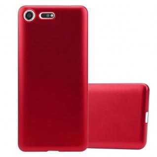 Cadorabo Hülle für Sony Xperia XZ Premium in METALLIC ROT - Handyhülle aus flexiblem TPU Silikon - Silikonhülle Schutzhülle Ultra Slim Soft Back Cover Case Bumper