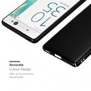 Cadorabo Hülle für Sony Xperia XA in METALL SCHWARZ - Hardcase Handyhülle aus Plastik gegen Kratzer und Stöße - Schutzhülle Bumper Ultra Slim Back Case Hard Cover - Vorschau 5