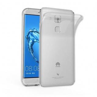 Cadorabo Hülle für Huawei NOVA PLUS - Hülle in VOLL TRANSPARENT ? Handyhülle aus TPU Silikon im Ultra Slim 'AIR' Design - Ultra Slim Soft Backcover Case Bumper