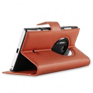Cadorabo Hülle für Nokia Lumia 1020 in SCHOKO BRAUN - Handyhülle mit Magnetverschluss, Standfunktion und Kartenfach - Case Cover Schutzhülle Etui Tasche Book Klapp Style - Vorschau 4