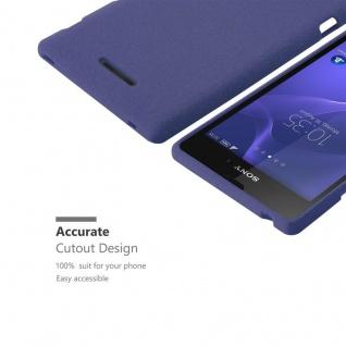 Cadorabo Hülle für Sony Xperia T3 in FROST DUNKEL BLAU - Handyhülle aus flexiblem TPU Silikon - Silikonhülle Schutzhülle Ultra Slim Soft Back Cover Case Bumper - Vorschau 3