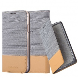 Cadorabo Hülle für Apple iPhone XS MAX in HELL GRAU BRAUN Handyhülle mit Magnetverschluss, Standfunktion und Kartenfach Case Cover Schutzhülle Etui Tasche Book Klapp Style