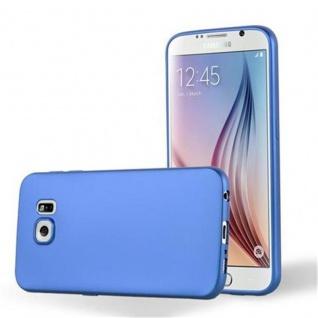 Cadorabo Hülle für Samsung Galaxy S6 in METALLIC BLAU - Handyhülle aus flexiblem TPU Silikon - Silikonhülle Schutzhülle Ultra Slim Soft Back Cover Case Bumper