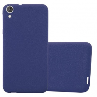 Cadorabo Hülle für HTC Desire 820 in FROST DUNKEL BLAU - Handyhülle aus flexiblem TPU Silikon - Silikonhülle Schutzhülle Ultra Slim Soft Back Cover Case Bumper