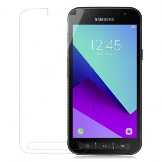 Cadorabo Panzer Folie für Samsung Galaxy XCover 4 - Schutzfolie in KRISTALL KLAR - Gehärtetes (Tempered) Display-Schutzglas in 9H Härte mit 3D Touch Kompatibilität