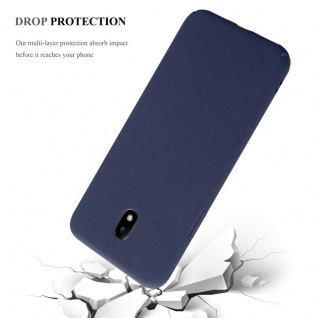 Cadorabo Hülle für Samsung Galaxy J5 2017 in FROSTY BLAU - Hardcase Handyhülle aus Plastik gegen Kratzer und Stöße - Schutzhülle Bumper Ultra Slim Back Case Hard Cover - Vorschau 4