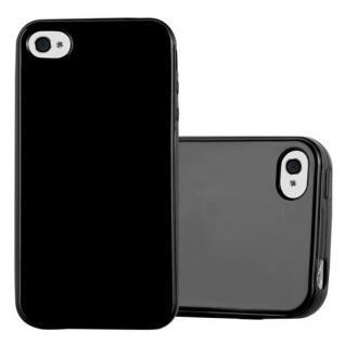 Cadorabo Hülle für Apple iPhone 4 / iPhone 4S in JELLY SCHWARZ - Handyhülle aus flexiblem TPU Silikon - Silikonhülle Schutzhülle Ultra Slim Soft Back Cover Case Bumper