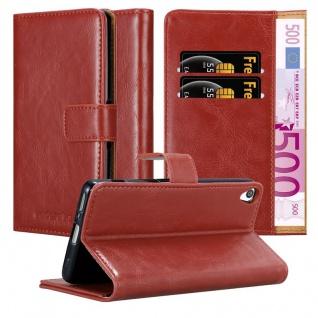 Cadorabo Hülle für Sony Xperia XA in WEIN ROT ? Handyhülle mit Magnetverschluss, Standfunktion und Kartenfach ? Case Cover Schutzhülle Etui Tasche Book Klapp Style