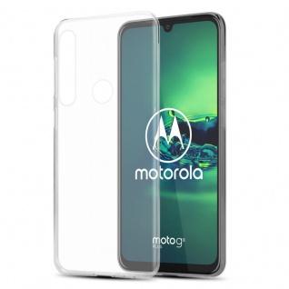 Cadorabo Hülle für Motorola MOTO G8 PLUS in VOLL TRANSPARENT - Handyhülle aus flexiblem TPU Silikon - Silikonhülle Schutzhülle Ultra Slim Soft Back Cover Case Bumper