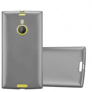 Cadorabo Hülle für Nokia Lumia 1520 in METALLIC GRAU - Handyhülle aus flexiblem TPU Silikon - Silikonhülle Schutzhülle Ultra Slim Soft Back Cover Case Bumper