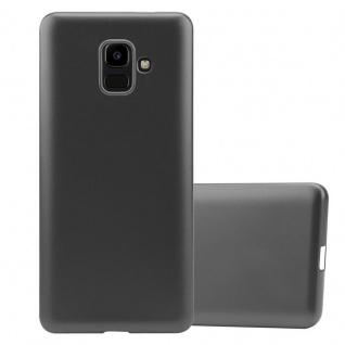 Cadorabo Hülle für Samsung Galaxy J6 2016 in METALLIC GRAU - Handyhülle aus flexiblem TPU Silikon - Silikonhülle Schutzhülle Ultra Slim Soft Back Cover Case Bumper