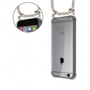 Cadorabo Handy Kette für Apple iPhone 6 PLUS / iPhone 6S PLUS in RAINBOW - Silikon Necklace Umhänge Hülle mit Silber Ringen, Kordel Band Schnur und abnehmbarem Etui - Schutzhülle - Vorschau 5