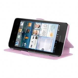 Cadorabo Hülle für Huawei ASCEND G520 / G525 - Hülle in ICY ROSE - Handyhülle mit Standfunktion und Kartenfach im Ultra Slim Design - Case Cover Schutzhülle Etui Tasche Book