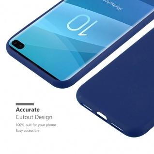 Cadorabo Hülle für Samsung Galaxy S10 PLUS in CANDY DUNKEL BLAU - Handyhülle aus flexiblem TPU Silikon - Silikonhülle Schutzhülle Ultra Slim Soft Back Cover Case Bumper - Vorschau 4