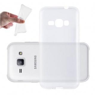 Cadorabo Hülle für Samsung Galaxy TREND 3 in VOLL TRANSPARENT - Handyhülle aus flexiblem TPU Silikon - Silikonhülle Schutzhülle Ultra Slim Soft Back Cover Case Bumper