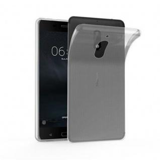 Cadorabo Hülle für Nokia 6 2017 in VOLL TRANSPARENT - Handyhülle aus flexiblem TPU Silikon - Silikonhülle Schutzhülle Ultra Slim Soft Back Cover Case Bumper