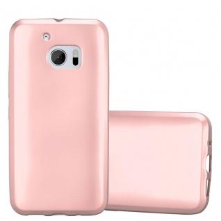 Cadorabo Hülle für HTC 10 (One M10) in METALLIC ROSÉ GOLD - Handyhülle aus flexiblem TPU Silikon - Silikonhülle Schutzhülle Ultra Slim Soft Back Cover Case Bumper
