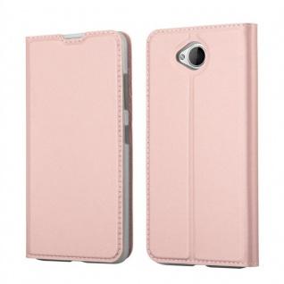 Cadorabo Hülle für Nokia Lumia 650 in CLASSY ROSÉ GOLD - Handyhülle mit Magnetverschluss, Standfunktion und Kartenfach - Case Cover Schutzhülle Etui Tasche Book Klapp Style