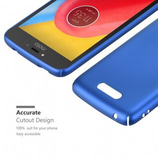 Cadorabo Hülle für Motorola MOTO C in METALL BLAU - Hardcase Handyhülle aus Plastik gegen Kratzer und Stöße - Schutzhülle Bumper Ultra Slim Back Case Hard Cover - Vorschau 5