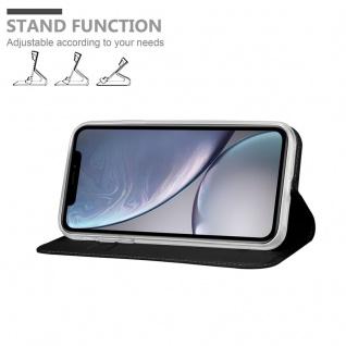 Cadorabo Hülle für Apple iPhone XS MAX in CLASSY SCHWARZ - Handyhülle mit Magnetverschluss, Standfunktion und Kartenfach - Case Cover Schutzhülle Etui Tasche Book Klapp Style - Vorschau 3