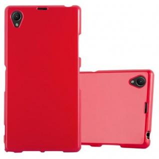 Cadorabo Hülle für Sony Xperia Z1 in JELLY ROT - Handyhülle aus flexiblem TPU Silikon - Silikonhülle Schutzhülle Ultra Slim Soft Back Cover Case Bumper