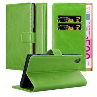 Cadorabo Hülle für Sony Xperia XA1 PLUS in GRAS GRÜN ? Handyhülle mit Magnetverschluss, Standfunktion und Kartenfach ? Case Cover Schutzhülle Etui Tasche Book Klapp Style