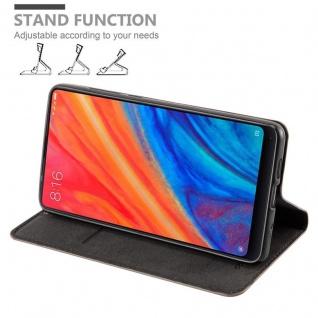 Cadorabo Hülle für Xiaomi Mi MIX 2S in KAFFEE BRAUN - Handyhülle mit Magnetverschluss, Standfunktion und Kartenfach - Case Cover Schutzhülle Etui Tasche Book Klapp Style - Vorschau 4
