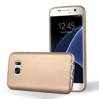 Cadorabo Hülle für Samsung Galaxy S7 in METALLIC ROSE GOLD Handyhülle aus flexiblem TPU Silikon Silikonhülle Schutzhülle Ultra Slim Soft Back Cover Case Bumper