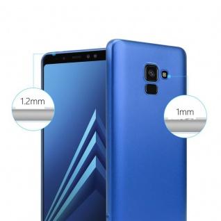 Cadorabo Hülle für Samsung Galaxy A8 2018 in METALLIC BLAU - Handyhülle aus flexiblem TPU Silikon - Silikonhülle Schutzhülle Ultra Slim Soft Back Cover Case Bumper - Vorschau 4