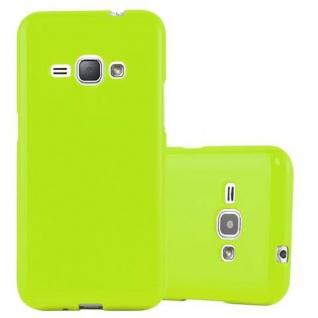 Cadorabo Hülle für Samsung Galaxy J1 2015 in JELLY GRÜN ? Handyhülle aus flexiblem TPU Silikon ? Silikonhülle Schutzhülle Ultra Slim Soft Back Cover Case Bumper