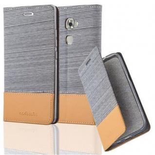 Cadorabo Hülle für Huawei MATE S in HELL GRAU BRAUN - Handyhülle mit Magnetverschluss, Standfunktion und Kartenfach - Case Cover Schutzhülle Etui Tasche Book Klapp Style