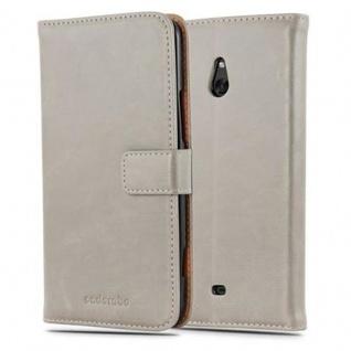 Cadorabo Hülle für Nokia Lumia 1320 in CAPPUCINO BRAUN - Handyhülle mit Magnetverschluss, Standfunktion und Kartenfach - Case Cover Schutzhülle Etui Tasche Book Klapp Style