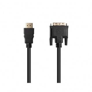 Cadorabo - 3, 0m HQ HDMI zu DVI Kabel High Speed - 3D Ready - HDMI auf DVI Adapterkabel [3 Meter] mit vergoldeten Anschlüssen in SCHWARZ