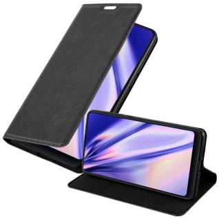 Cadorabo Hülle für Xiaomi Mi MIX 2S in NACHT SCHWARZ - Handyhülle mit Magnetverschluss, Standfunktion und Kartenfach - Case Cover Schutzhülle Etui Tasche Book Klapp Style